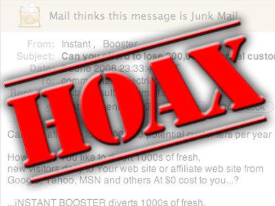 Hoax ! vérifiez l'information avant de la partager